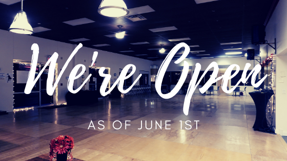 We're re-opening on June 3rd!
